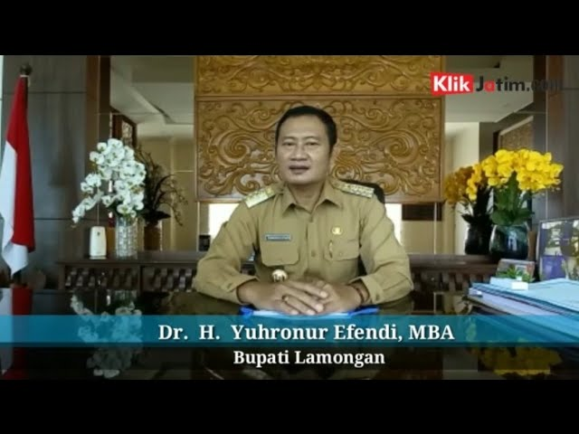 HUT KLIKJATIM ke-2 dari Bupati Lamongan Dr. H. Yuhronur Efendi, MBA