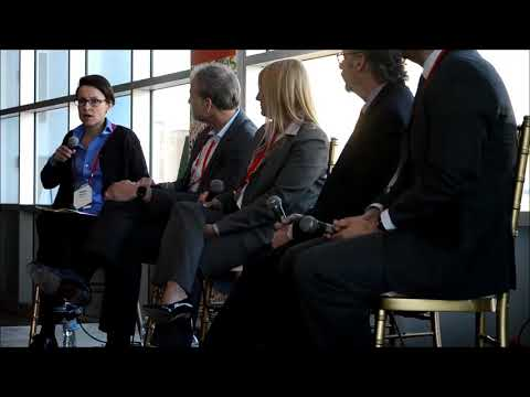 B+E CEO, Camille Renshaw leads the Bisnow Conference Capital Markets Discussion