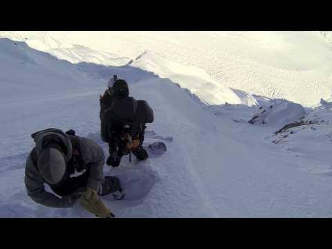 Mind Warp Couloir Snowboard First Descent - Silverton Mountain Guides Alaska Heli-Ski