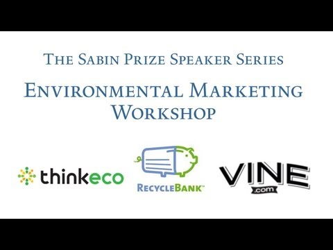 Sabin Prize Speaker Series - Environmental Marketing Workshop