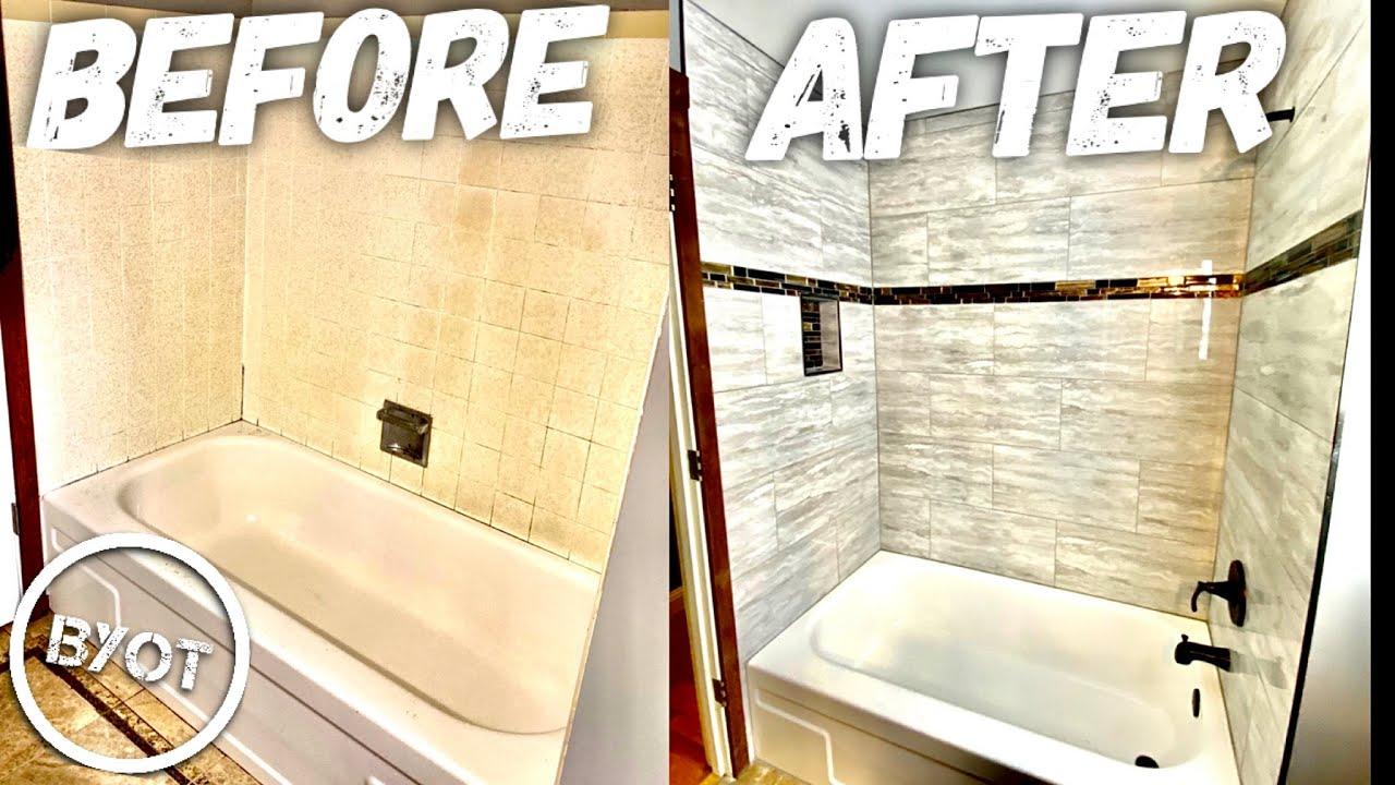 diy shower remodel start to finish part 1 of 2