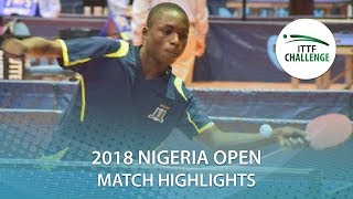Solanke Azeez vs Osedunkwu Joseph | 2018 Nigeria Open Highlights (Group)