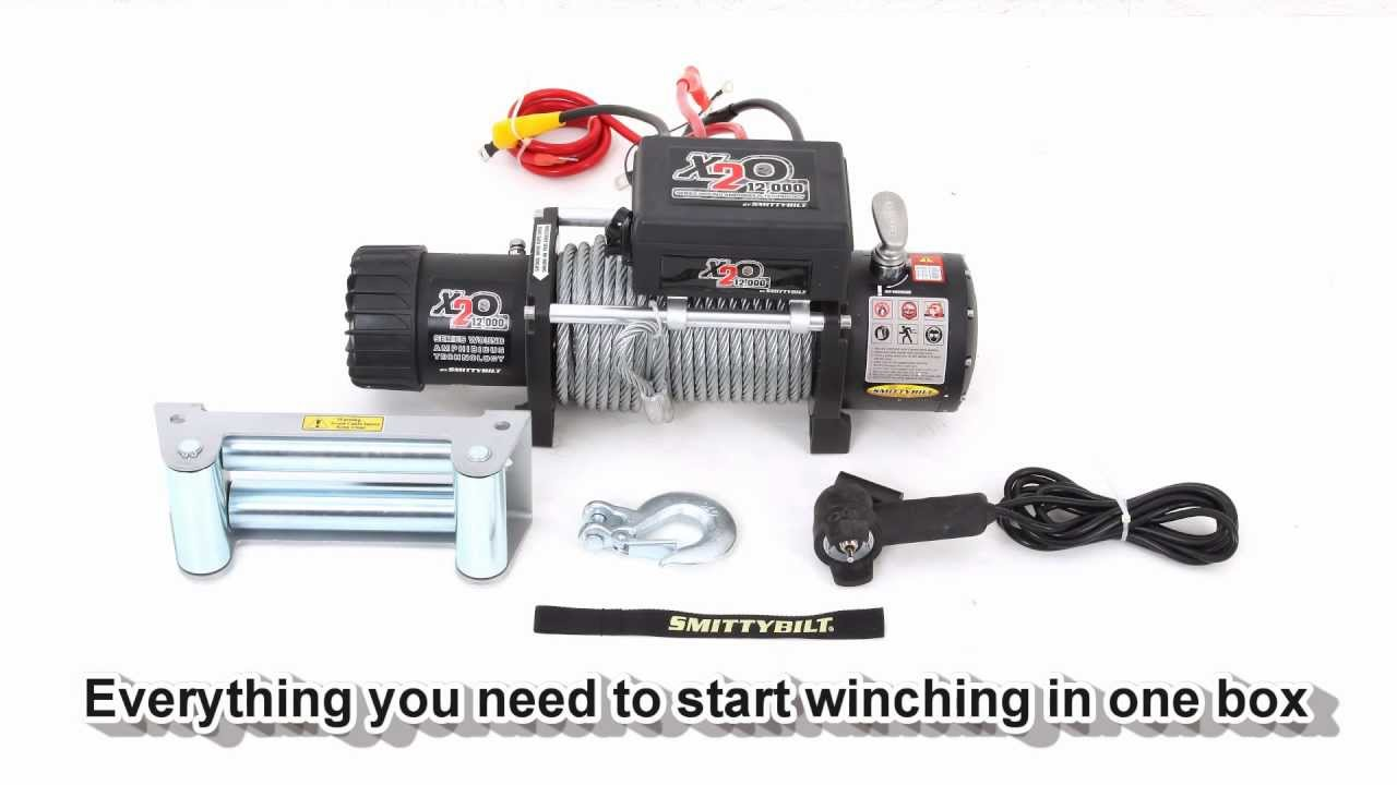 Smittybilt x20 12000 pound waterproof winch youtube sciox Images