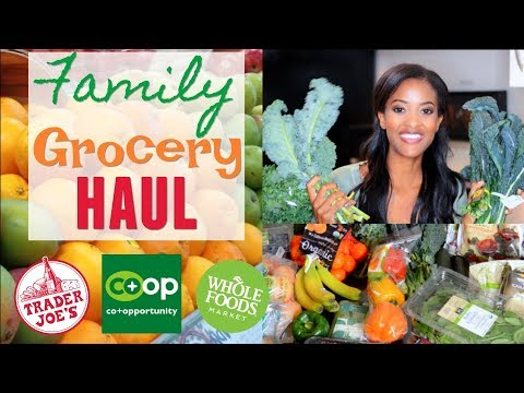 Healthy Trader Joe's and Whole Foods Organic Grocery Haul | Vegan/Vegetarian/Pescatarian Meal Plan