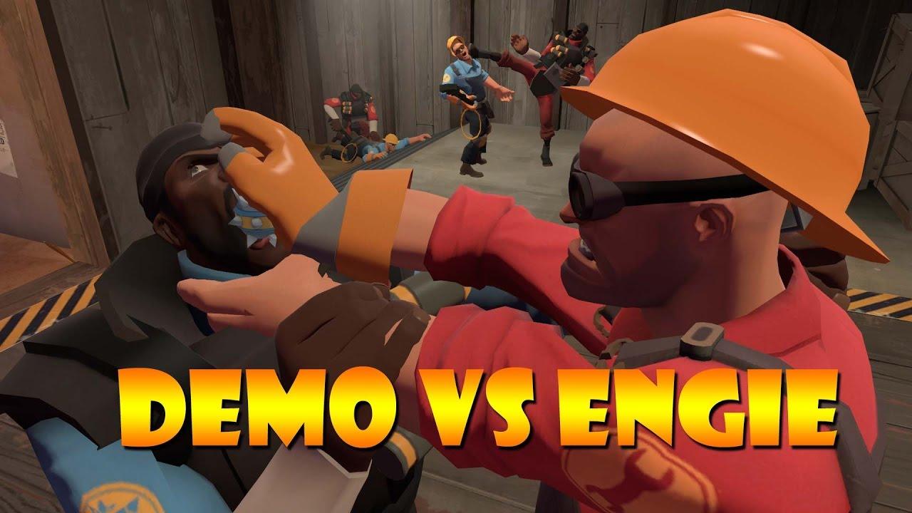 TF2 bot battle 24: Demo Vs Engineer - YouTube