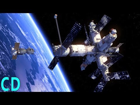 Space Station Collision - Mir Crash with Progress Supply Vessel