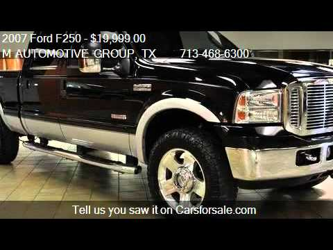 F250 For Sale >> 2007 Ford F250 Super Duty Lariat - for sale in Houston, TX 7 - YouTube