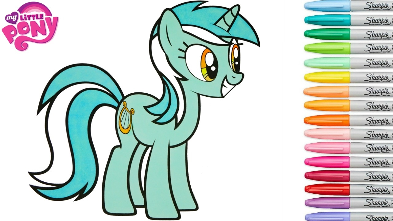 My Little Pony Lyra Coloring Pages : My little pony lyra coloring pages fun