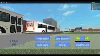 Roblox: driving a 2009 New Flyer D40LFR