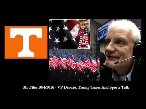 The Mc Files #18 - Vice Presidential Debate, Taxes and Some Football