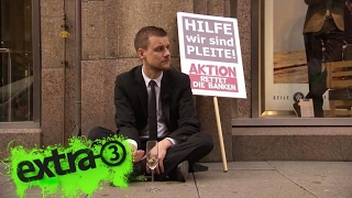 Schlegl in Aktion: Rettet die Banken
