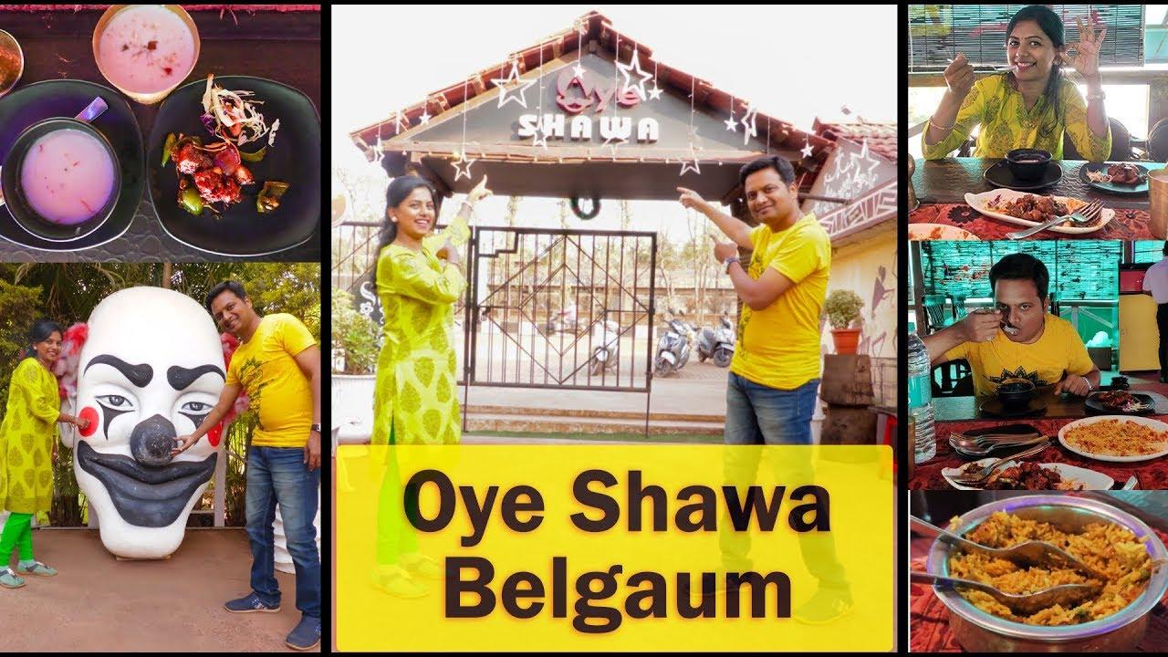 Oye Shawa Restaurant Belgaum Review Veg and Non Veg food vlog in Kannada Mr & Mrs Vinay