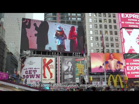 Feliciano School of Business Ad in Times Square