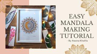 Easy Mandala Making Tutorial