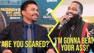 All The Trash Talk said Manny Pacquiao and Adrien Broner at NY and LA Press Conference Press