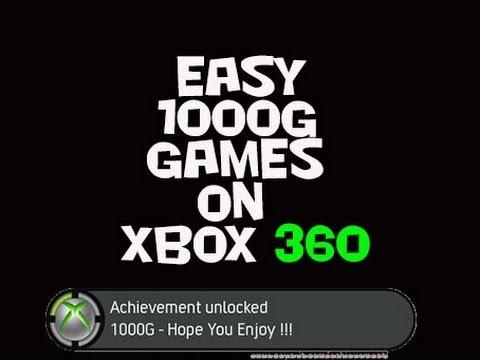 Easy Xbox 360 1000 Gamerscore Games - YouTube