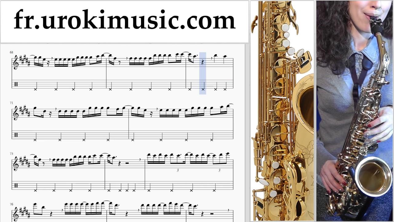 Cours De Saxophone Alto Luis Fonsi Despacito Tuto Partitions Partie 2 Um A829