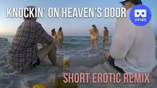 VR180 3D. Four nude girls knockin' on Heaven's Door