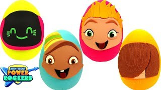 Huevos Sorpresas de Mini Beat Power Rockers en Español de Plastilina Play Doh thumbnail