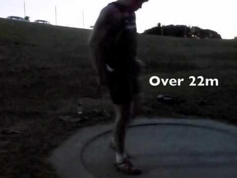SHOT PUT GILL Jacko training 22m 6kg 2011-09-05.m4v