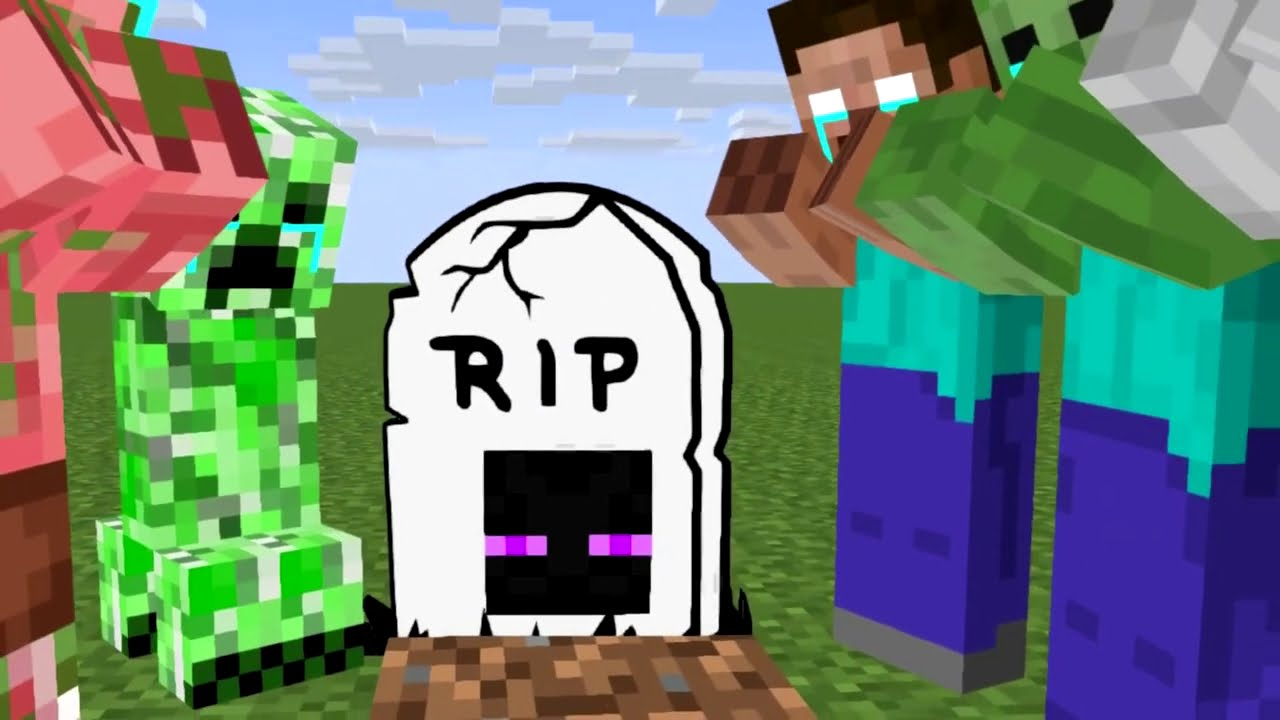 Monster School : Enderman's escape from prison !!- minecraft animation