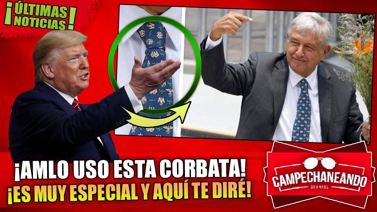 ¡NADIE SE DIO CUENTA! AMLO MANDO MENSAJE SECRETO A TRUMP CON ESTA CORBATA