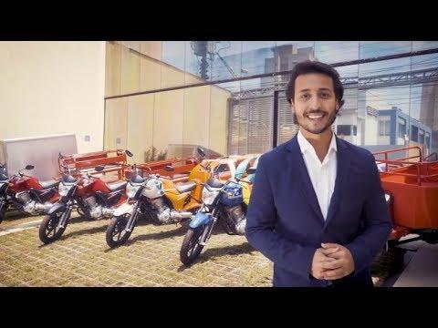 Felipe Fonseca apresenta o novo Triciclo FUSCO-Motosegura na moto Honda CG 160