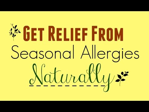 Natural Remedies for Seasonal Allergies!