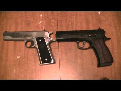 Colt 1911 vs CZ 97B - YouTube