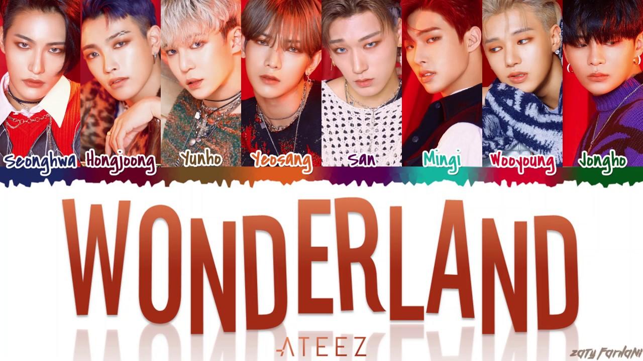ATEEZ 에이티즈   'WONDERLAND' [Color Coded Han Rom Eng]