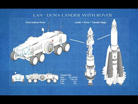Kerbal Engineering - How to build a rover and send it to Duna