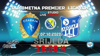 RK Slavija - RK Leotar - Premijer liga BiH / PRENOS UŽIVO / www.vivostudio.ba