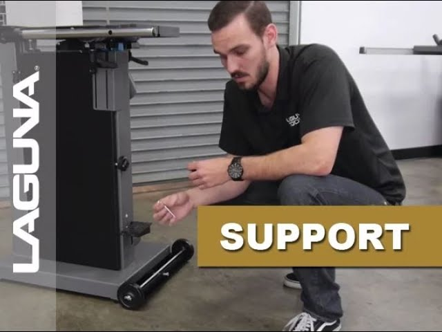 How To Install The 14 BX Bandsaw Mobility Kit - Laguna Support - Updated Audio