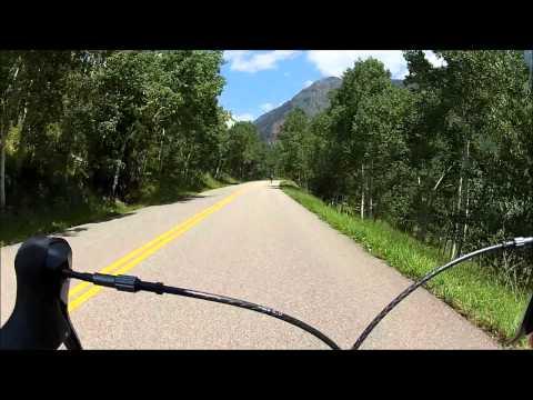 Maroon Bells Road Bike Descent   Aspen, Colorado