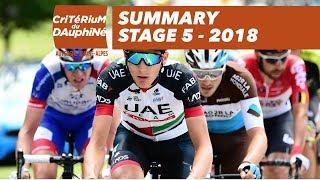 Summary - Stage 5 (Grenoble / Valmorel) - Critérium du Dauphiné 2018