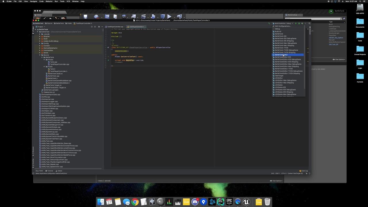 Unreal Engine 4 - CLion - Tutorial