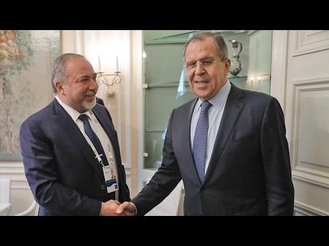 С.Лавров и Министр обороны Израиля |  Sergey Lavrov and Israeli Defence Minister Avigdor Lieberman