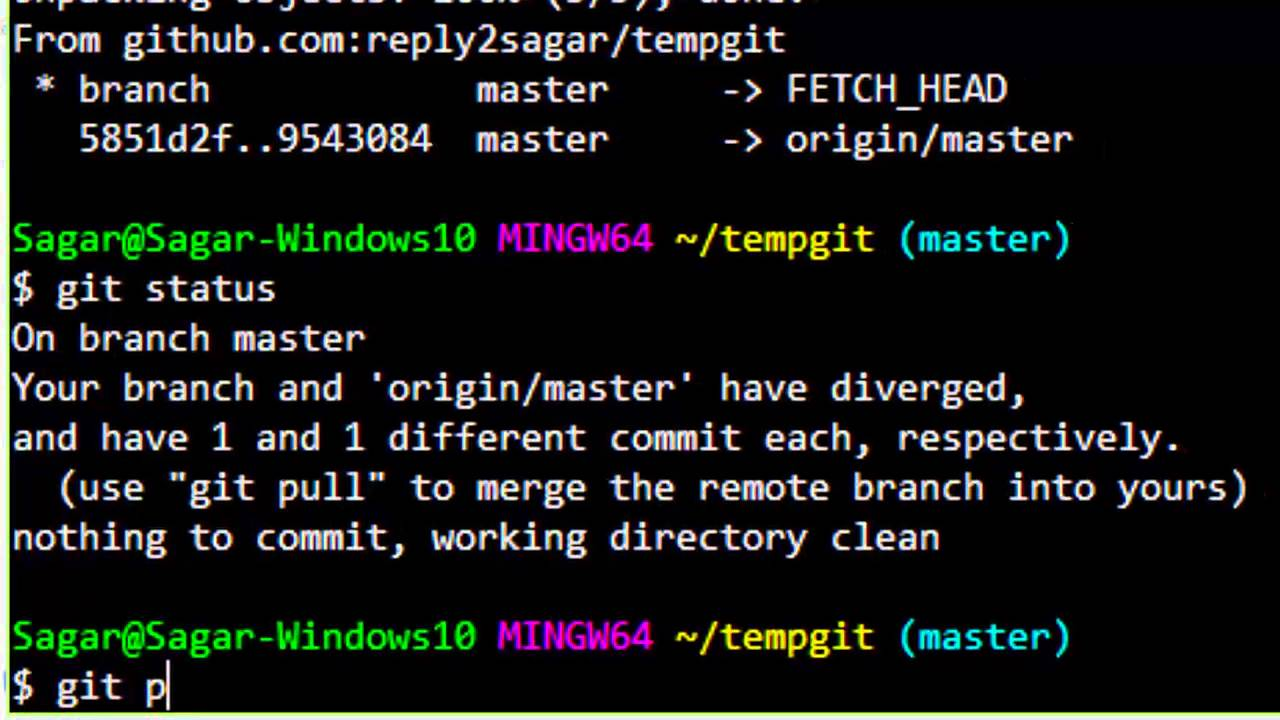 git pull new branch from remote
