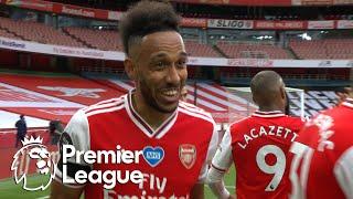 Pierre-Emerick Aubameyang's second goal gives Arsenal 3-0 lead   Premier League   NBC Sports