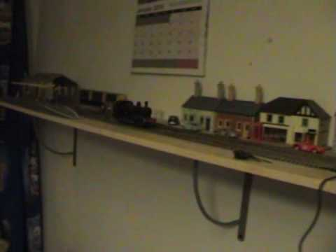 Shelf Layout With First Trains Running Youtube