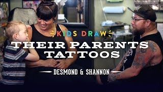 Desmond Designs a Tattoo for His Mom | Kids Draw | Cut
