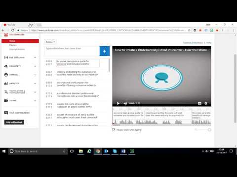 How to Export Youtube Closed Caption for Clean Up from YouTube · Duration:  5 minutes 39 seconds