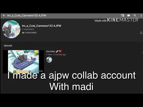 I made a ajpw collab account with madi (my friend in school)