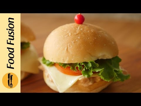 Mini Chicken Burger Recipe By Food Fusion
