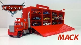 Exclusive Disney Pixar Cars 2 Mack truck Carry Case with 10 cars 1:48