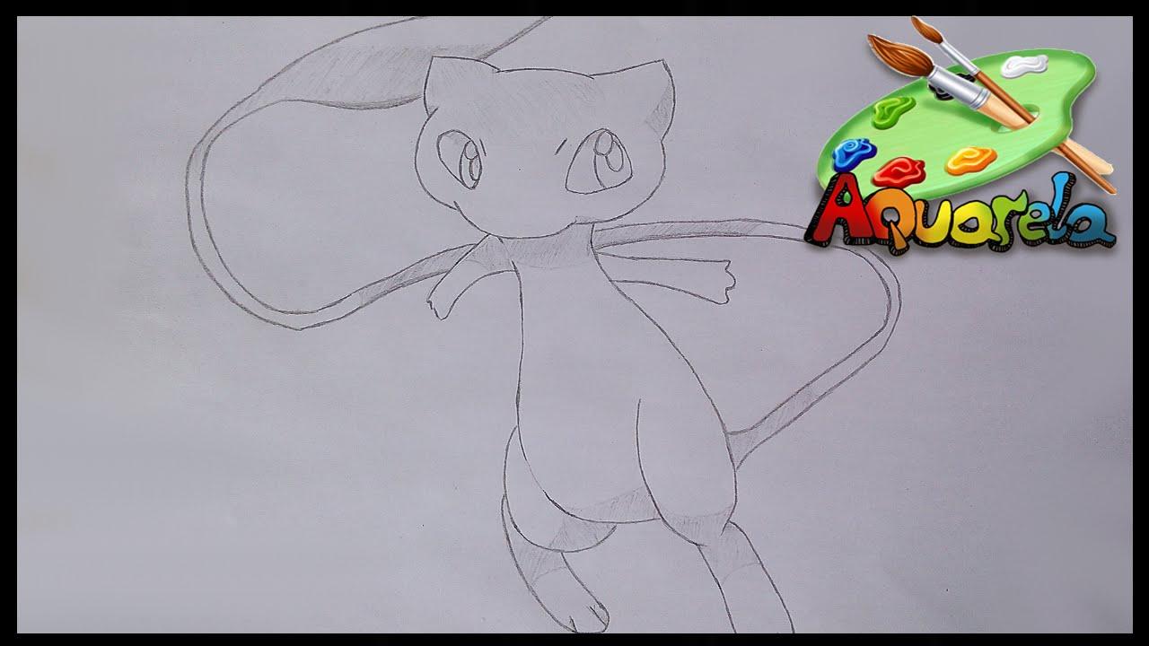 desenhando pokemon lendarios mew youtube