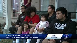 Suspect arrested in fatal hit-and-run motorcycle crash