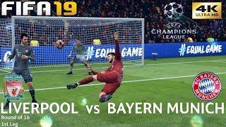 FIFA 19 (PC) Liverpool vs Bayern Munich | UEFA CHAMPIONS LEAGUE ROUND OF 16 | 19/2/2019 | 4K 60FPS