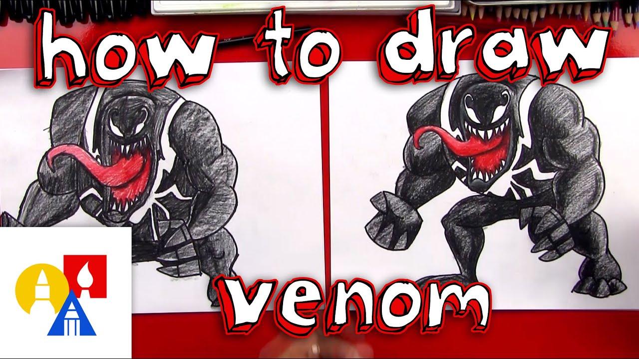 How To Draw Venom Youtube