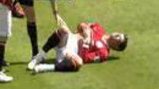 Michael Ball kicks Cristiano Ronaldo in the stomach